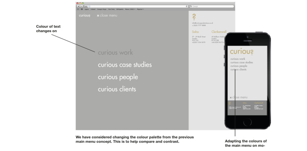image of website with an iphone mockup