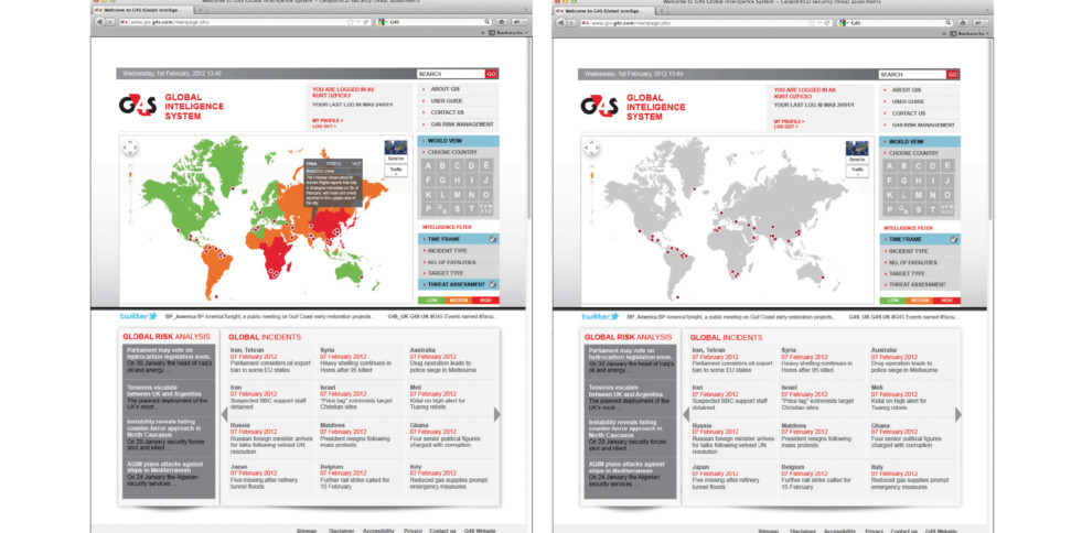 image of website - image of a map