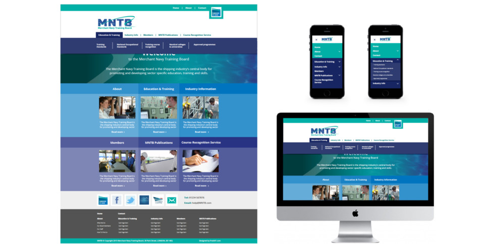 image showing mockups for home page on different devices