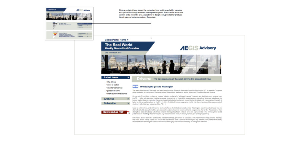 image of Aegis website with diagram
