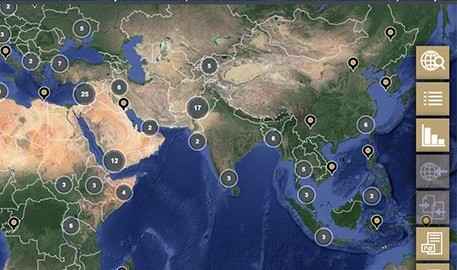 Protection group international thumbnail image of map global risk portal